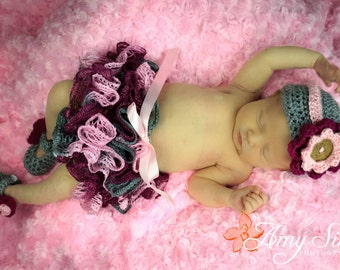 Newborn Ruffled Skirt Crochet Pattern
