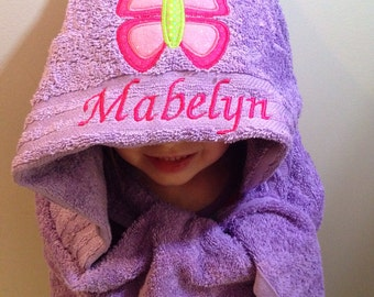 Personalized Gift for boy or girl - Personalized Hooded Towel