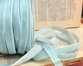 soft powder blue velvet ribbon