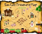 Santa's Christmas Treasure Hunt + Clues Printables