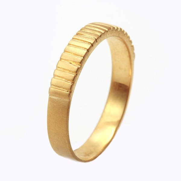 18k solid gold wedding band mens solid gold wedding ring