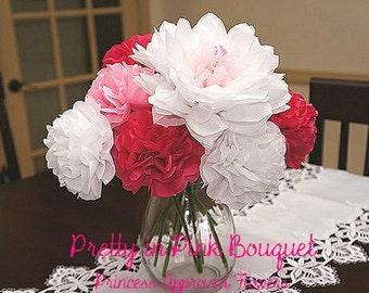 Pretty in Pink Bouquet (Tissue Paper Flowers)