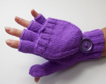 shimmering convertible gloves, flip top mittens, now in your choice of 10 sparkling shades/ MADE TO ORDER