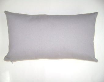 Light Grey Lumbar Pillow Cover, Solid Light Grey Pillow Cover, Lumbar Pillow Cover