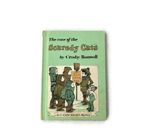 The case of the Scaredy Cats, 1971, mint green, vintage book