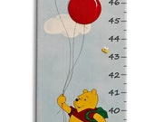 Disney Nursery, Winnie The Pooh Nursery Decor, Newborn Gift Idea, Newborn Handmade, Wall Growth Chart, Wall Growth Chart, Kids Growth Chart