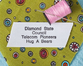 Sew On Camp Labels, Sew On School Labels, Camp Labels For Kids, Sew On Fabric Clothing Labels, Kids Sew On Labels, Label Style 104