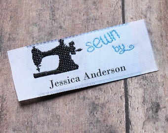 Popular items for woven labels on etsy for Sew in craft labels