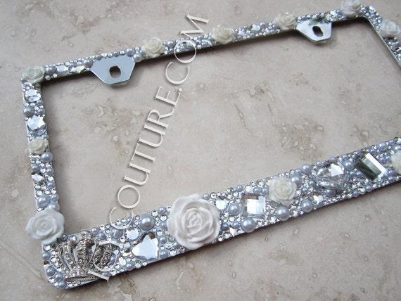 Sassy Auto Frames Bling custom hand made diamond
