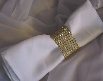 SOLD IN MULTIPLES of 20 - Napkin Rings - Gold Crystal Bling Napkin Rings - Gold Napkin Rings - Gold Wedding - Gold Christmas