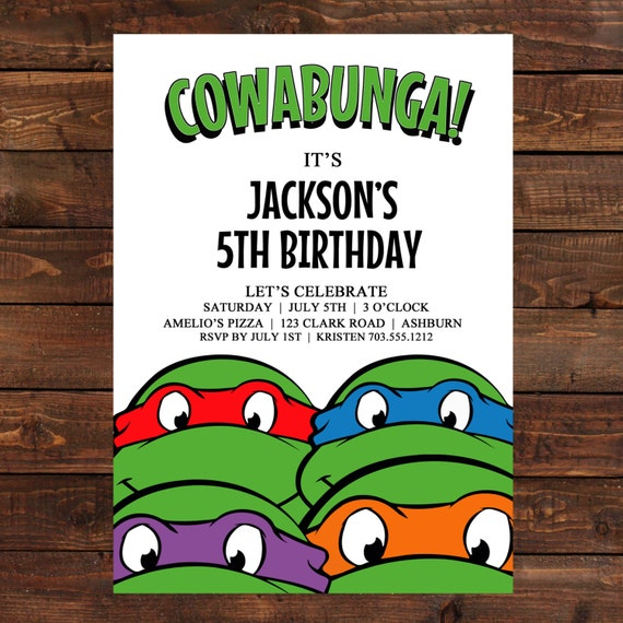 Personalized Ninja Turtle Birthday Invitations was beautiful invitations design