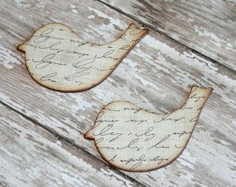 Shabby chic decor, Bird magnets, Fridge magnets, Bird decor, Nature lover gift, Decoupage magnets