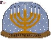 Celebrate Hanukkah (Snow Globe) Cross Stitch