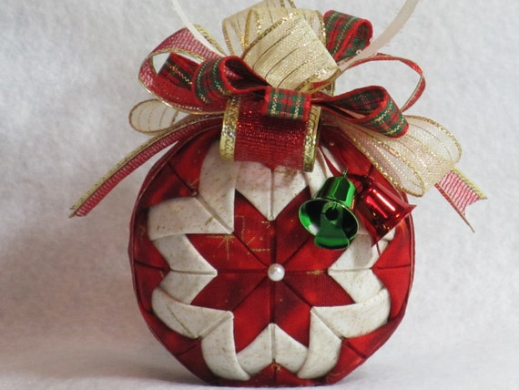 No Sew Fabric Christmas Ornaments