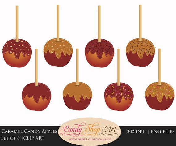 Candy Apples Clipart Candy Apple Clip Art