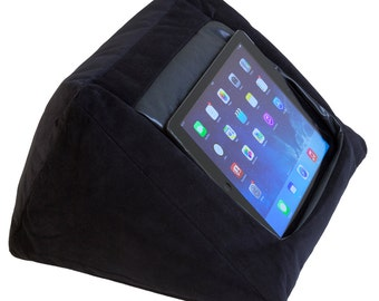 iPad Cushion Pillow Stand Holder. iCushion Velvet Black