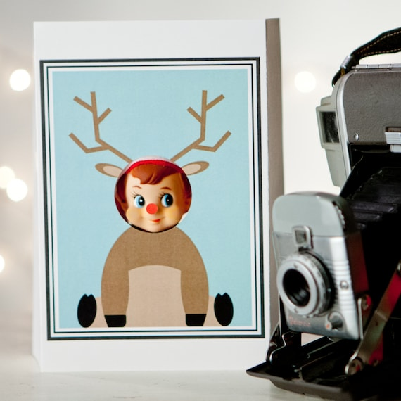 Elf Reindeer Photo Booth Prop