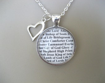 The Many Names of Jesus Throughout The Bible Necklace