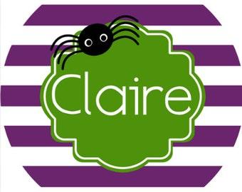 personalized Melamine Plate - custom melamine dish spider