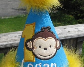 mod monkey boy birthday hat