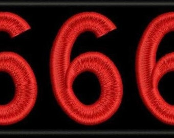 666 number of the beast embroidered patch occult satan