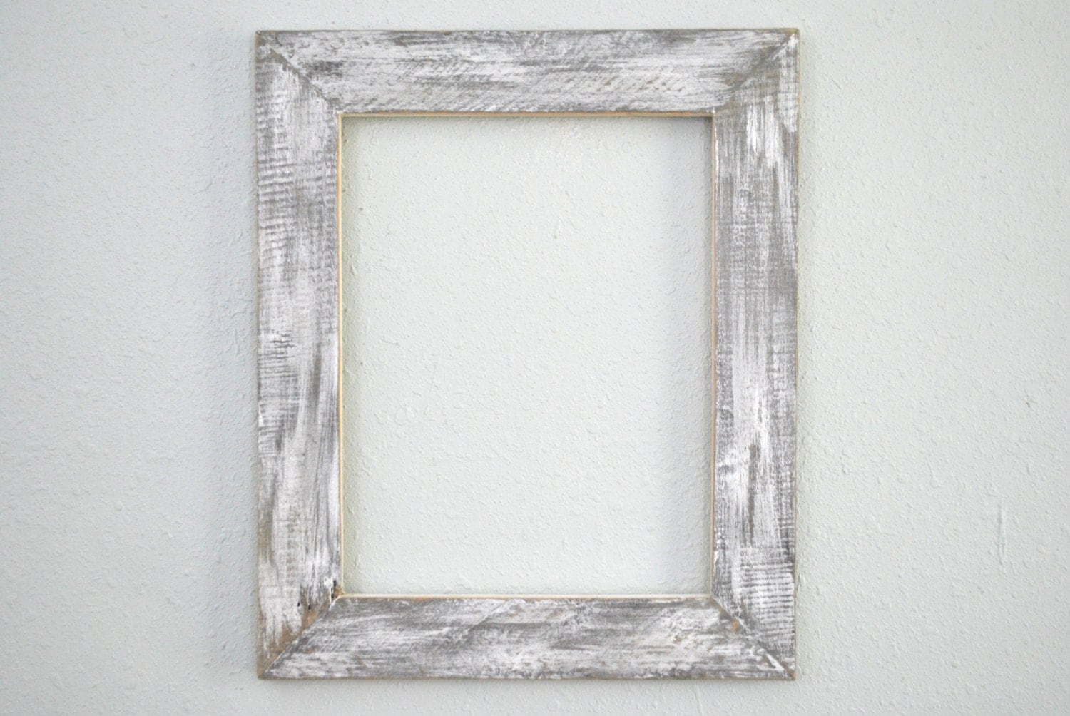 11x14 Distressed White Frame Rustic Weathered Wood Old