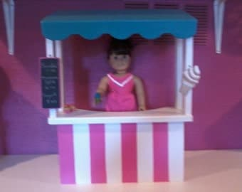 "18"" doll Ice Cream stand, for dolls like the American girl"