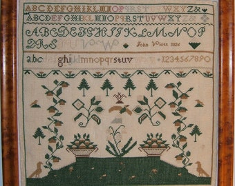 John Viott 1826 Reproduction Sampler Chart and directions