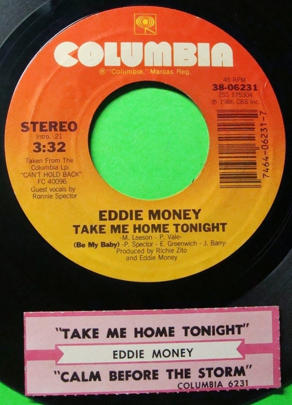 EDDIE MONEY Take Me Home Tonight with Ronnie by ...