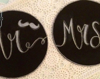 Mr and Mrs Photo Prop Signs.