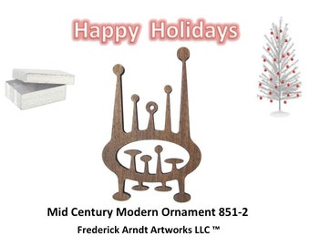851-2 Mid Century Modern Christmas Ornament