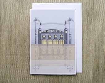 Brighton Architecture Blank Card - Brighton Pier