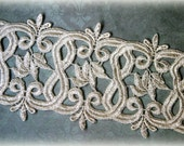 Tresors Ivory Lace Trim, Venice Lace Trim for Appliques, Altered Art, Costumes, Lace Jewelry, Headbands, Sashes, Sewing, Crafts GL-105