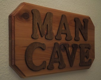 Wood Man Cave Sign