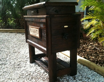 Rustic Wood Cooler