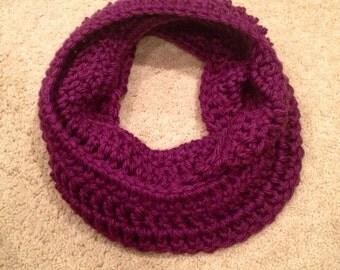 Wine Handmade Crochet Infinity Scarf