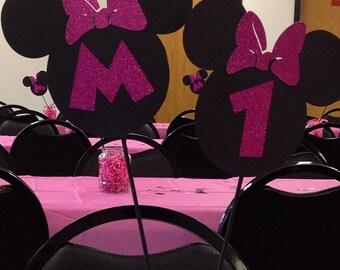 Minnie Birthday Center Piece