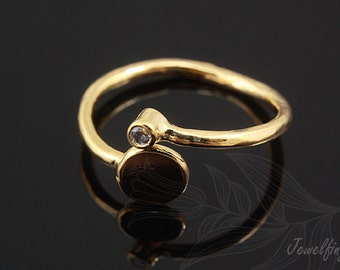 C1113-10pcs-Gold Plated-Ring-Hand Stamping Ring