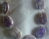 Hand Made purple  agate semi precious bracelet