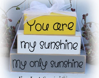 You Are My Sunshine Itty Bitty Blocks