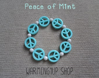 Peace Beads Bracelet (Mint)