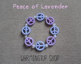 Peace Beads Bracelet (Lavender)