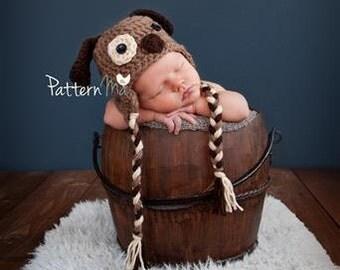 Crochet Baby Hat Pattern Puppy PDF #24
