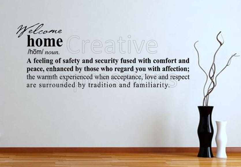 Home Definition Wall Decal Definition Of Home Wall Art Vinyl