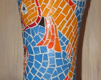 Tropical Mosaic Vase
