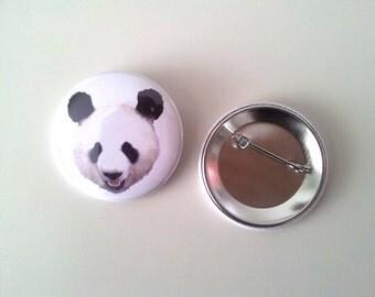 button pin panda portrait