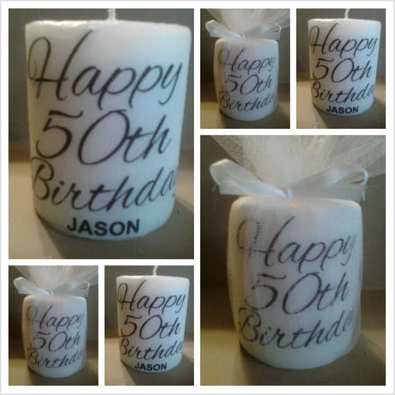 Personalized, 50th Birthday, 50th Birthday Favors, 50th