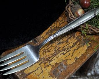 Sterling Silver Serving Fork, vintage silver fork, Meat Fork Antique Silver Serving piece collectable