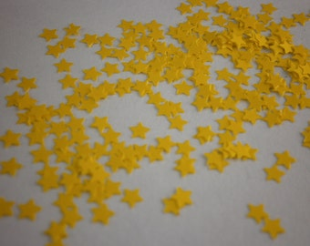 Yellow Stars Nail Glitter- .125 - Solvent Resistant- SAMPLE to 2 oz