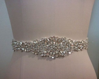 Wedding Belt, Bridal Belt, Sash Belt, Crystal Rhinestone  - Style B200087